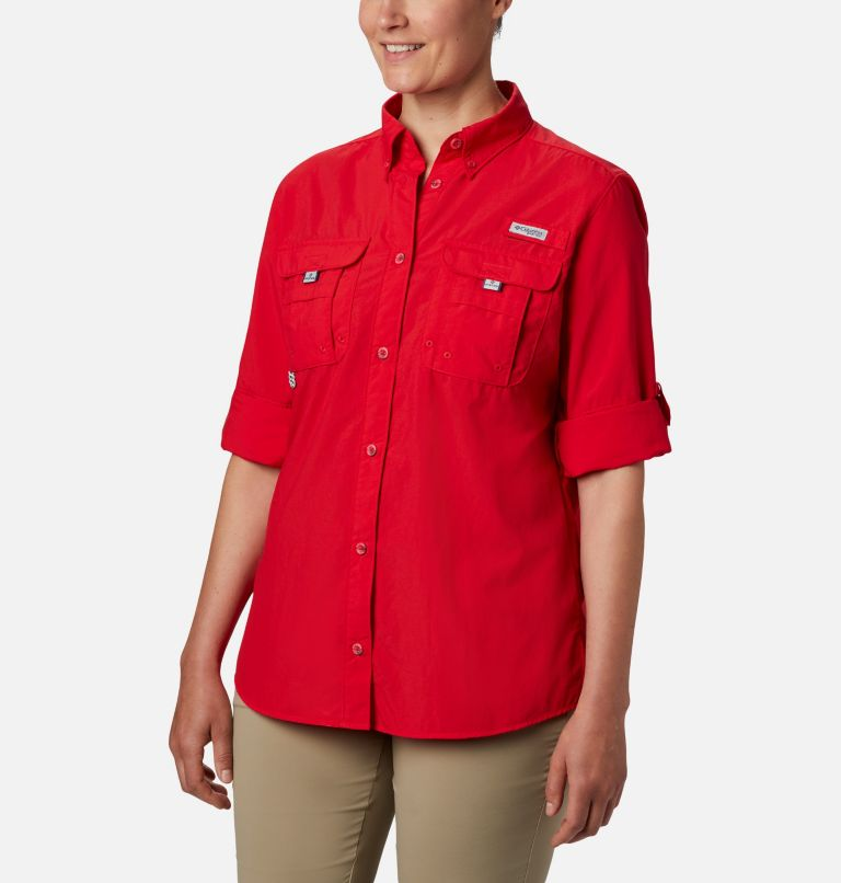 Womens Bahama™ LS | 658 | XS Women's PFG Bahama™ Long Sleeve Shirt, Red Lily, a1