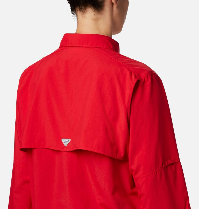 Womens Bahama™ LS | 658 | M Women's PFG Bahama™ Long Sleeve Shirt, Red Lily, a2