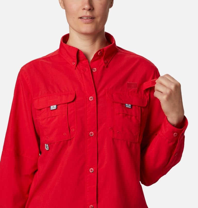 Womens Bahama™ LS | 658 | L Women's PFG Bahama™ Long Sleeve Shirt, Red Lily, a3