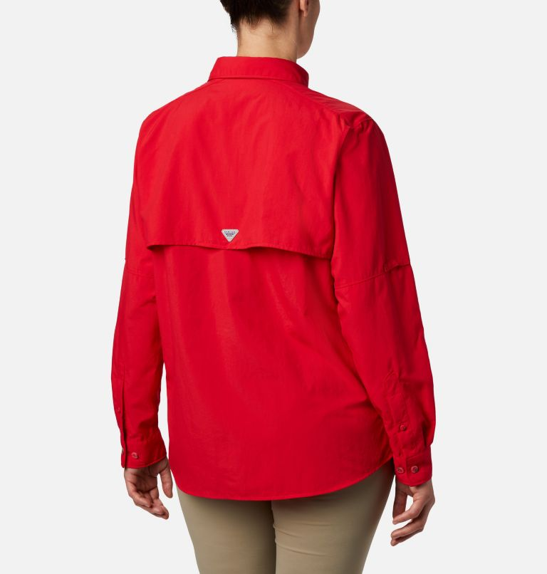Womens Bahama™ LS | 658 | M Women's PFG Bahama™ Long Sleeve Shirt, Red Lily, back