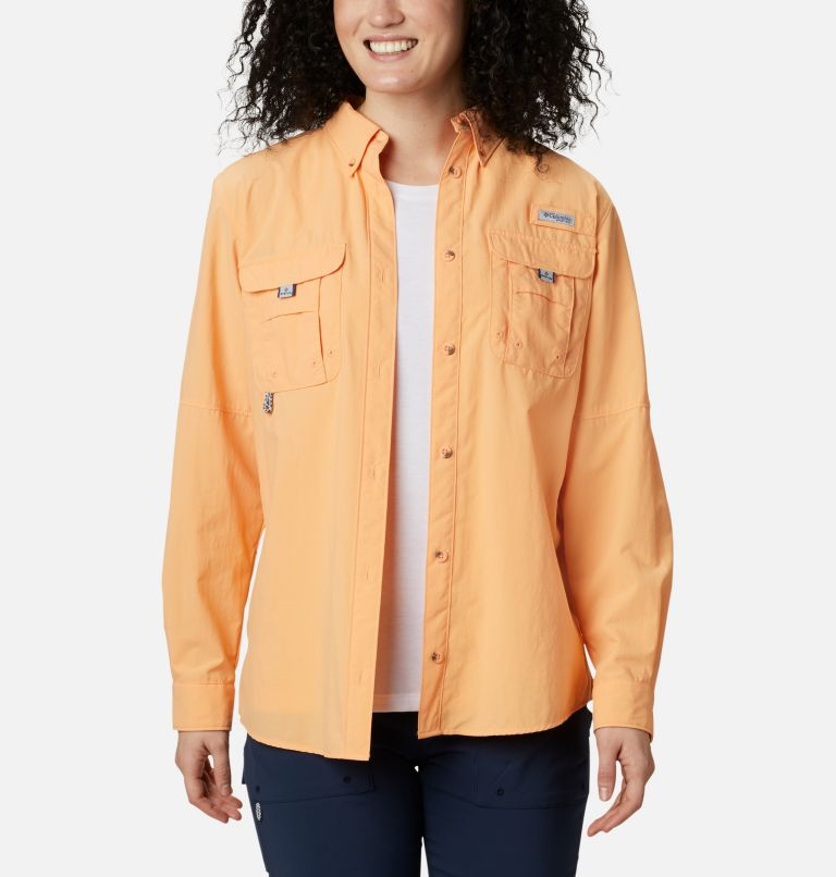 Womens Bahama™ LS | 856 | XS Women's PFG Bahama™ Long Sleeve Shirt, Light Juice, front
