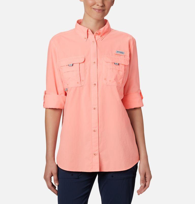 Womens Bahama™ LS | 884 | L Women's PFG Bahama™ Long Sleeve Shirt, Tiki Pink, a1