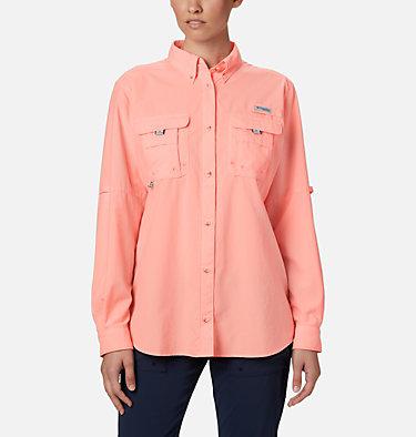 Women's PFG Bahama™ Long Sleeve Shirt Womens Bahama™ LS | 856 | M, Tiki Pink, front