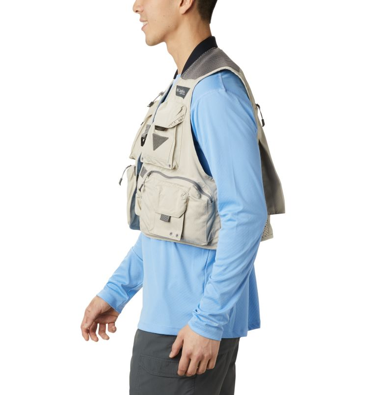 Henry's Fork™ V Vest | 160 | M Men's PFG Henry's Fork™ V Vest, Fossil, a1
