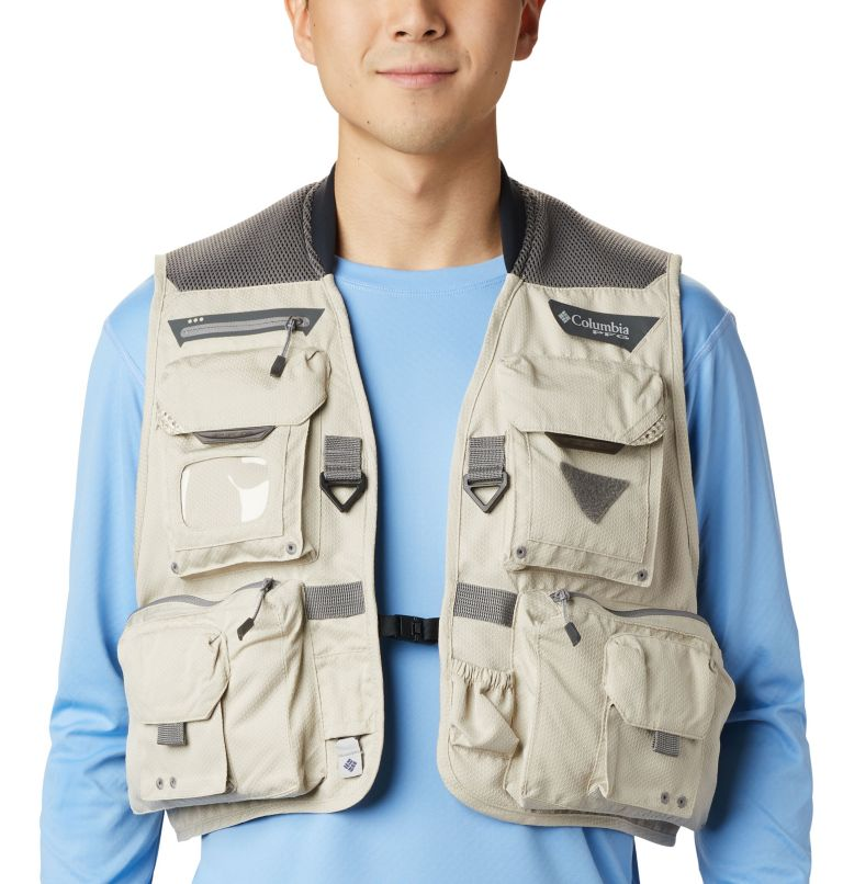Henry's Fork™ V Vest | 160 | M Men's PFG Henry's Fork™ V Vest, Fossil, a2