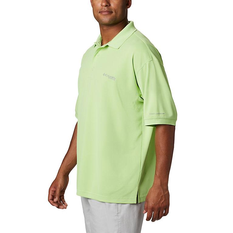 2XL,3XL Columbia Mens PFG Polo Fishing Shirt Sport Moisture Wicking UPF 30 S-XL