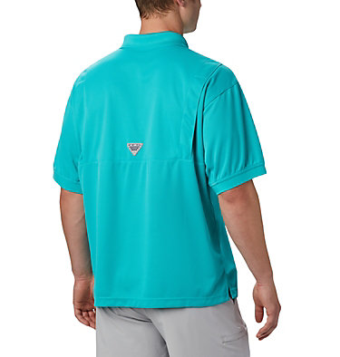 Men's PFG Perfect Cast™ Polo Perfect Cast™ Polo Shirt | 010 | XS, Bright Aqua, back