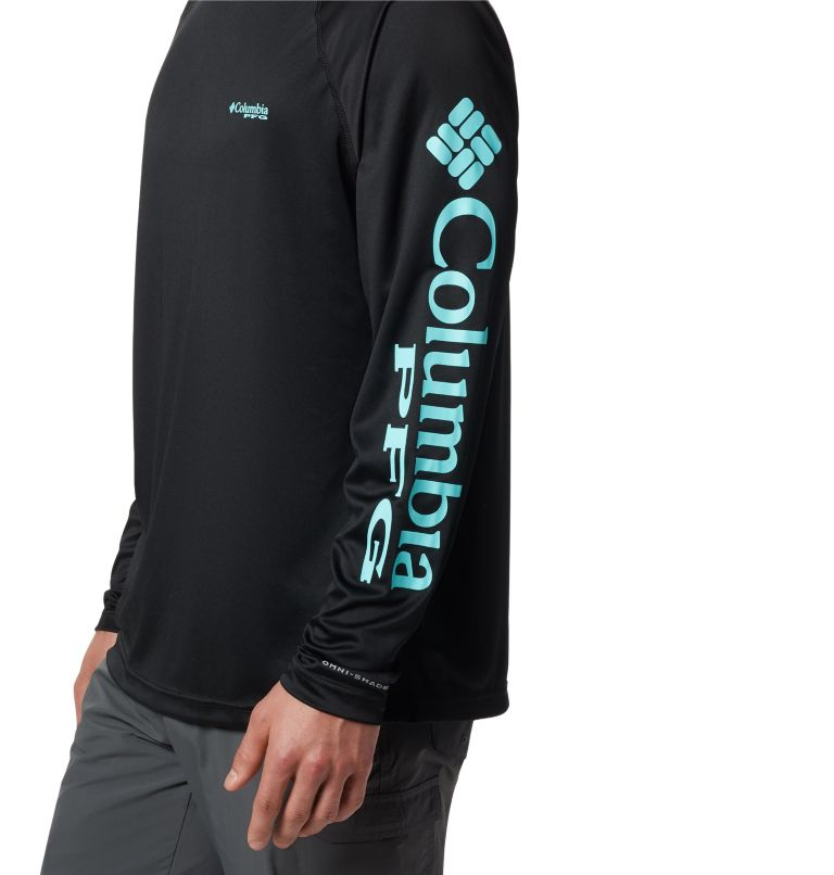 Terminal Tackle™ LS Shirt | 027 | S Men's PFG Terminal Tackle™ Long Sleeve Shirt, Black, Gulf Stream Logo, a1