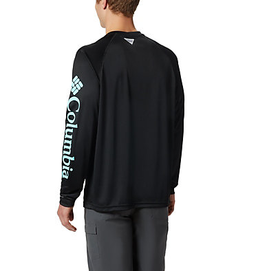 Men's PFG Terminal Tackle™ Long Sleeve Shirt Terminal Tackle™ LS Shirt | 472 | XS, Black, Gulf Stream Logo, back