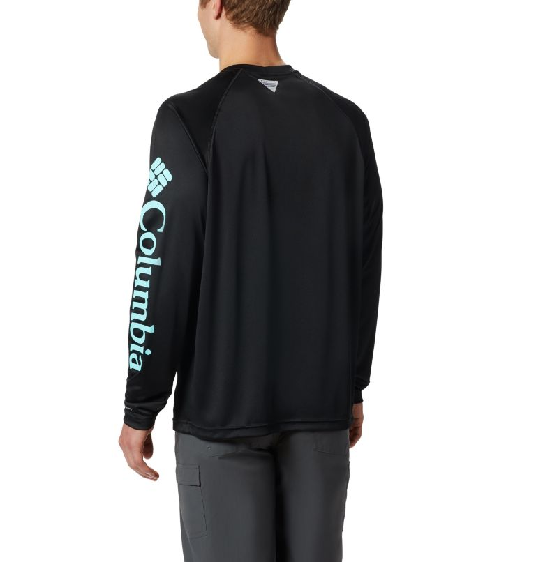 Terminal Tackle™ LS Shirt | 027 | S Men's PFG Terminal Tackle™ Long Sleeve Shirt, Black, Gulf Stream Logo, back
