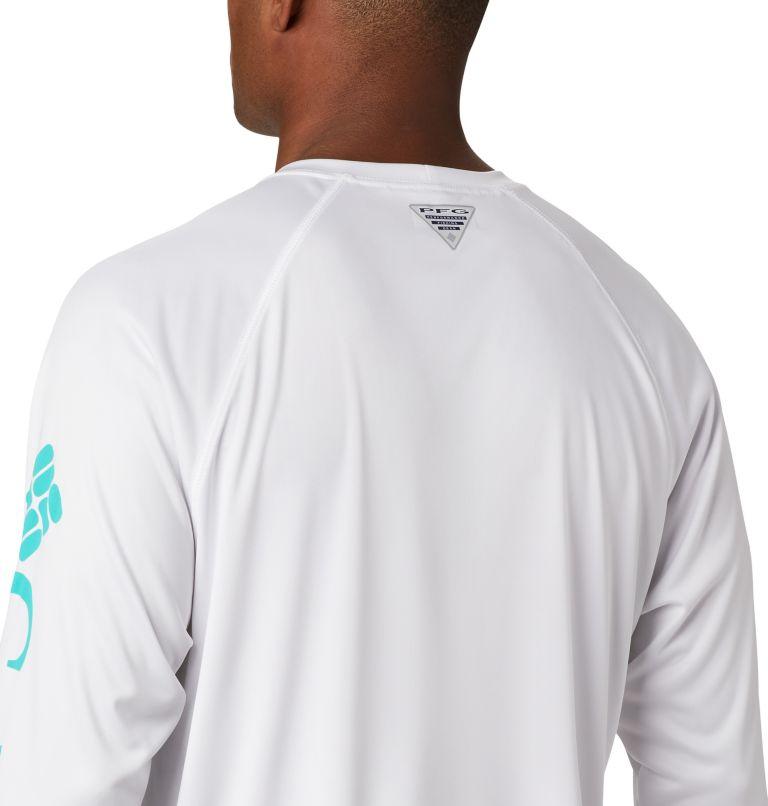 Terminal Tackle™ LS Shirt | 113 | XXL Men's PFG Terminal Tackle™ Long Sleeve Shirt, White, Bright Aqua Logo, a3