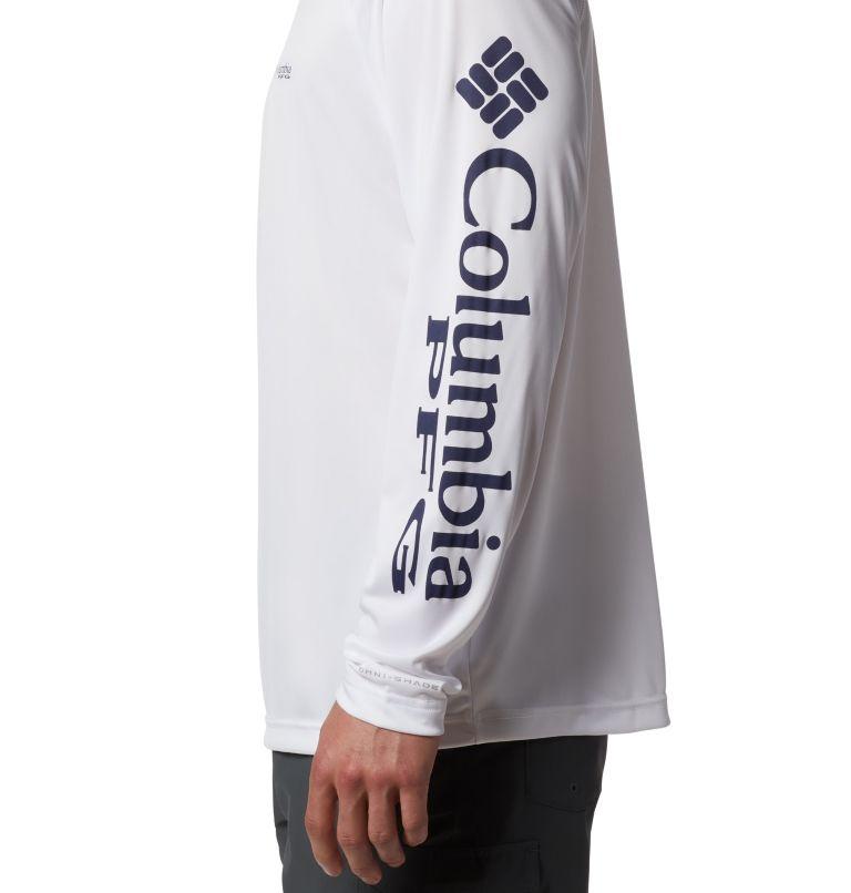Terminal Tackle™ LS Shirt | 114 | S Men's PFG Terminal Tackle™ Long Sleeve Shirt, White, Nightshade Logo, a1