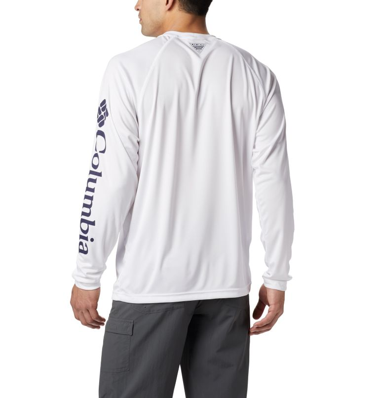 Terminal Tackle™ LS Shirt | 114 | S Men's PFG Terminal Tackle™ Long Sleeve Shirt, White, Nightshade Logo, a2