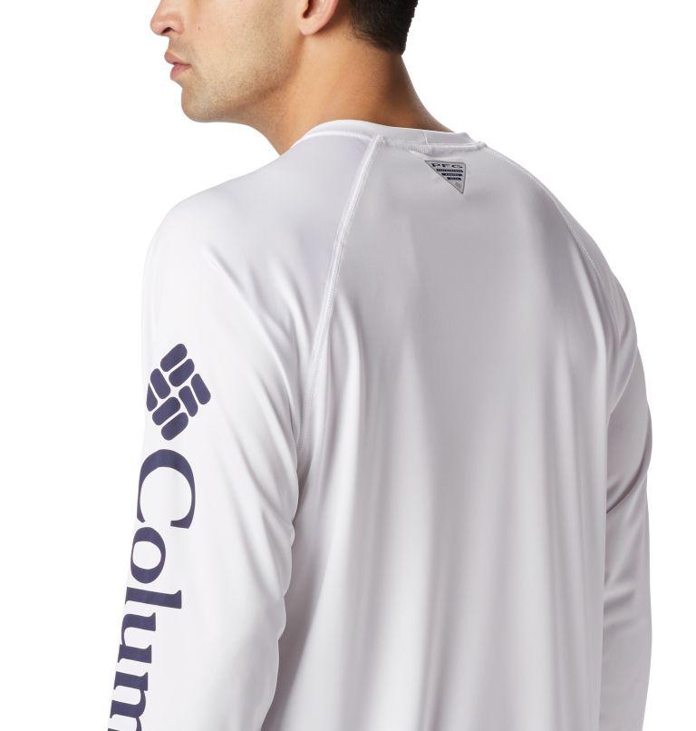 Terminal Tackle™ LS Shirt | 114 | S Men's PFG Terminal Tackle™ Long Sleeve Shirt, White, Nightshade Logo, a4