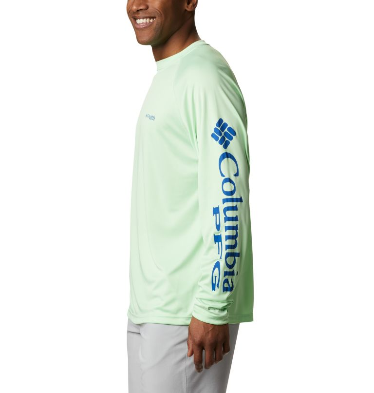 Terminal Tackle™ LS Shirt | 376 | M Men's PFG Terminal Tackle™ Long Sleeve Shirt, Key West, Vivid Blue Logo, a1
