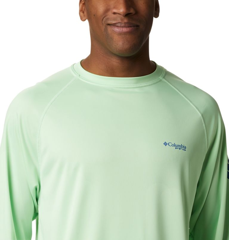 Terminal Tackle™ LS Shirt | 376 | XXL Men's PFG Terminal Tackle™ Long Sleeve Shirt, Key West, Vivid Blue Logo, a2