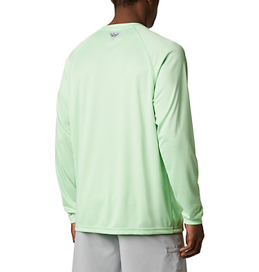 Men's PFG Terminal Tackle™ Long Sleeve Shirt Terminal Tackle™ LS Shirt | 480 | S, Key West, Vivid Blue Logo, back