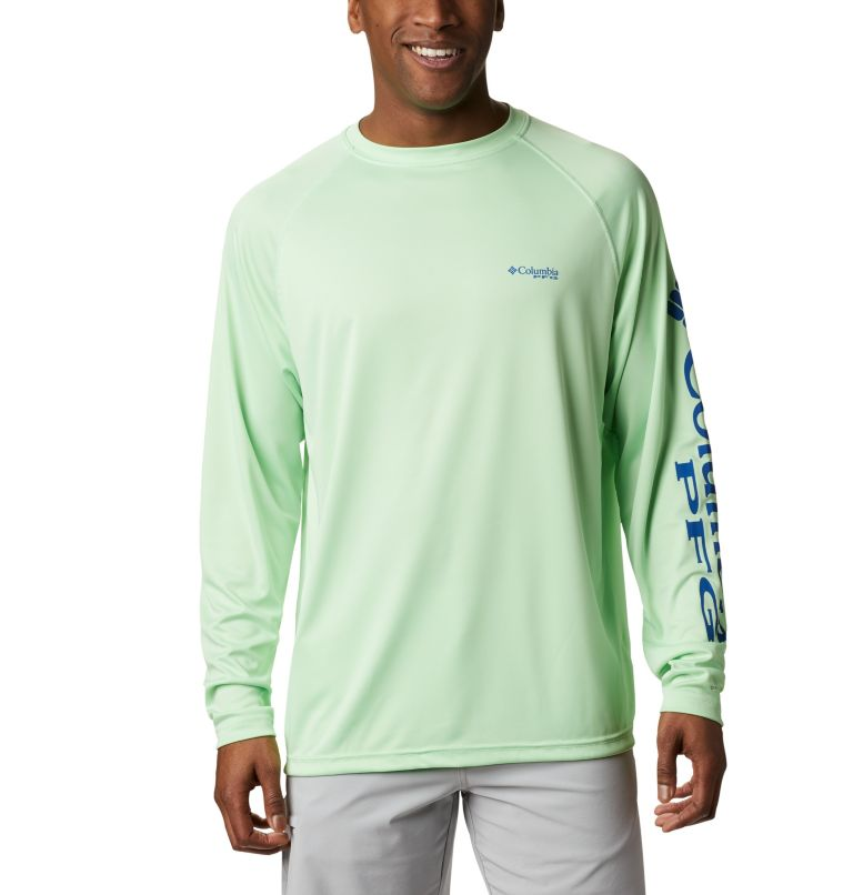 Terminal Tackle™ LS Shirt | 376 | S Men's PFG Terminal Tackle™ Long Sleeve Shirt, Key West, Vivid Blue Logo, front