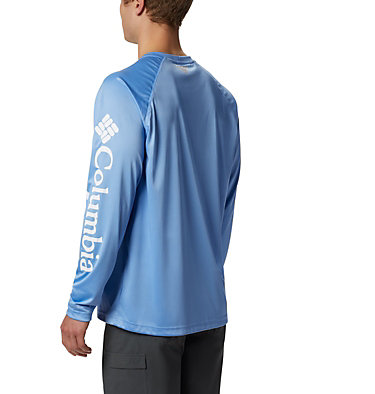 Men's PFG Terminal Tackle™ Long Sleeve Shirt Terminal Tackle™ LS Shirt | 472 | XS, White Cap, White Logo, back