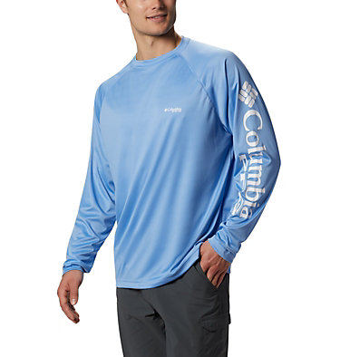Men's PFG Terminal Tackle™ Long Sleeve Shirt Terminal Tackle™ LS Shirt | 472 | XS, White Cap, White Logo, front