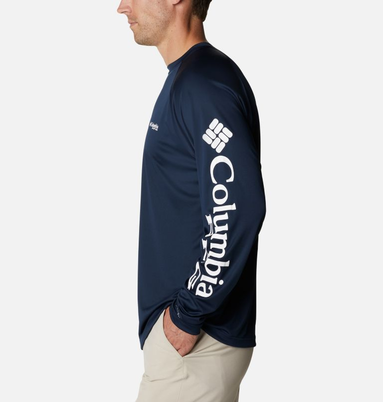 Terminal Tackle™ LS Shirt | 471 | XXL Men's PFG Terminal Tackle™ Long Sleeve Shirt, Collegiate Navy, White Logo, a1