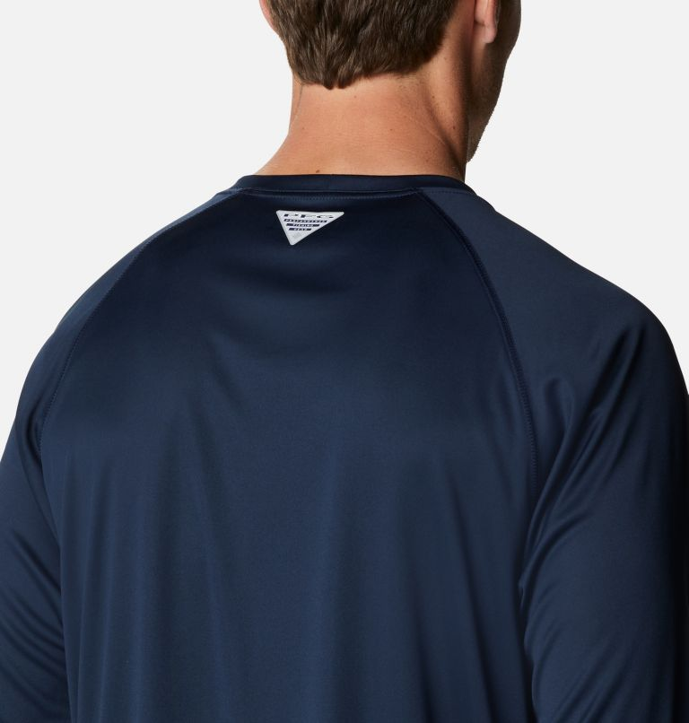 Terminal Tackle™ LS Shirt | 471 | XXL Men's PFG Terminal Tackle™ Long Sleeve Shirt, Collegiate Navy, White Logo, a3