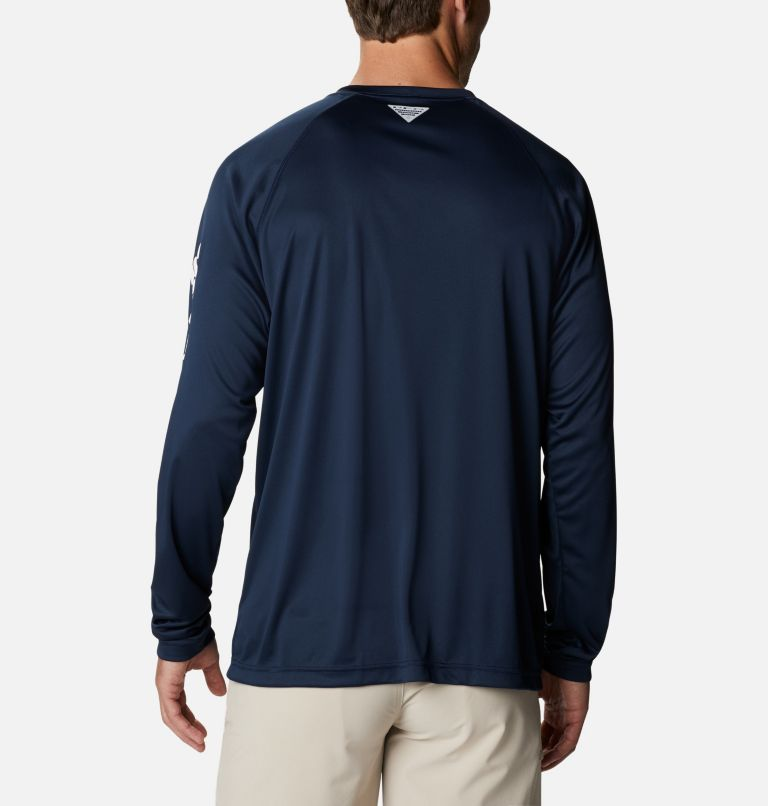 Terminal Tackle™ LS Shirt | 471 | XXL Men's PFG Terminal Tackle™ Long Sleeve Shirt, Collegiate Navy, White Logo, back