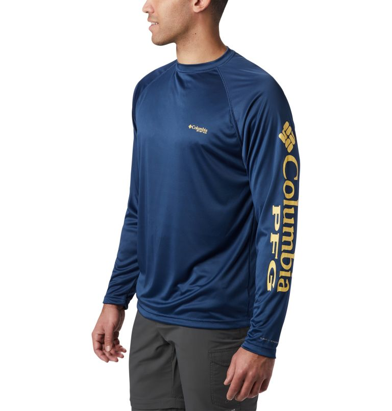 Terminal Tackle™ LS Shirt | 472 | XL Men's PFG Terminal Tackle™ Long Sleeve Shirt, Carbon, Sunlit Logo, a1