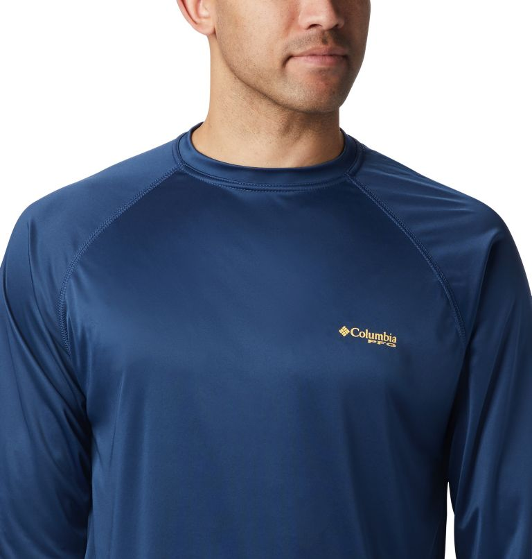 Terminal Tackle™ LS Shirt | 472 | XL Men's PFG Terminal Tackle™ Long Sleeve Shirt, Carbon, Sunlit Logo, a2