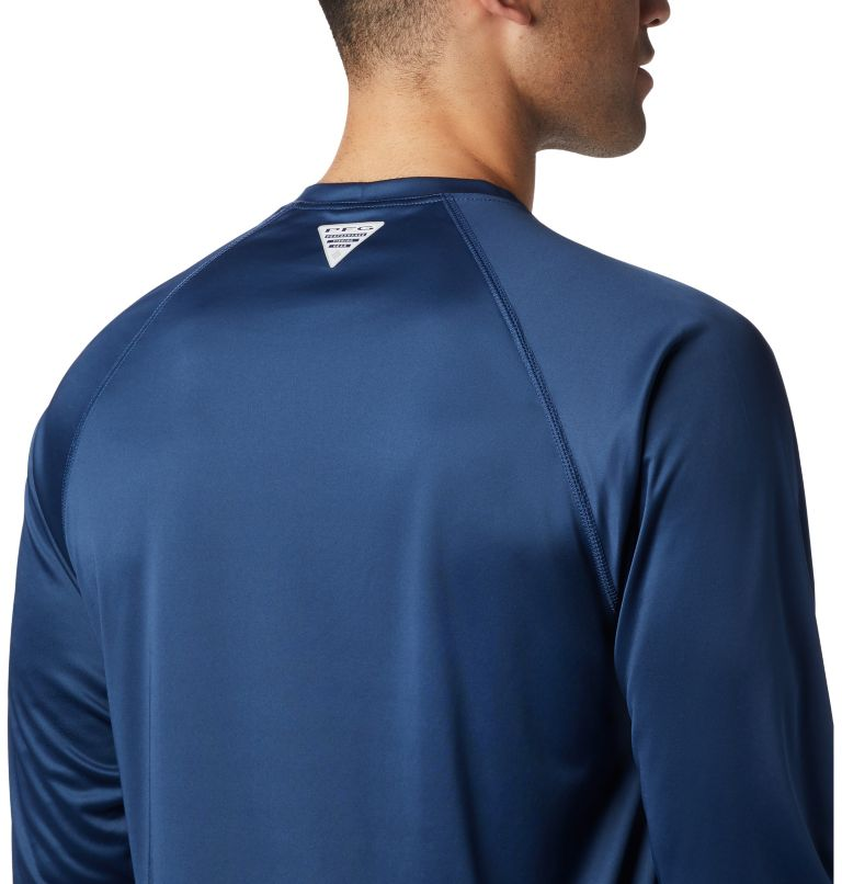 Terminal Tackle™ LS Shirt | 472 | XL Men's PFG Terminal Tackle™ Long Sleeve Shirt, Carbon, Sunlit Logo, a3