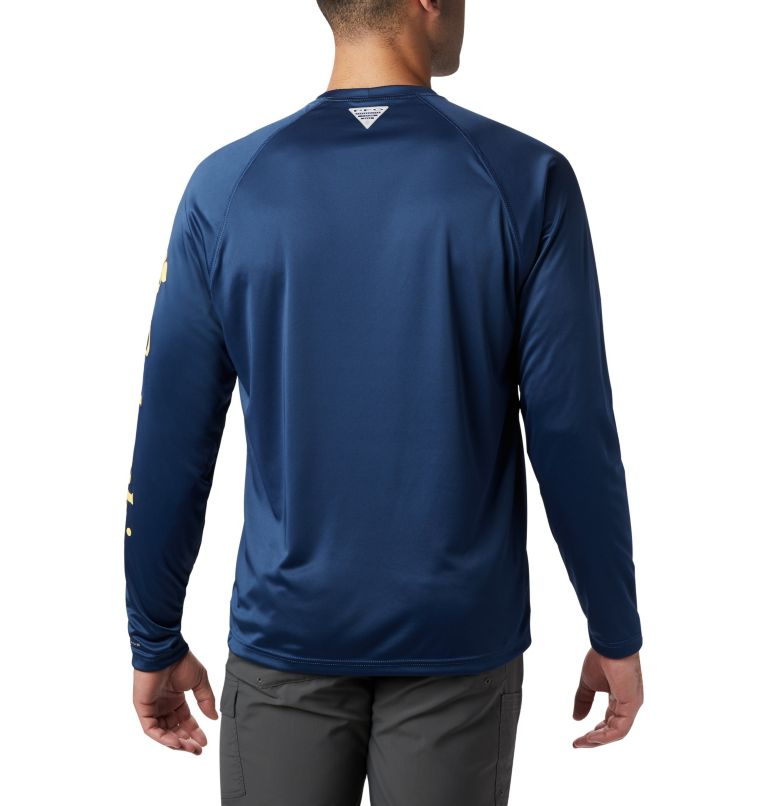 Terminal Tackle™ LS Shirt | 472 | XL Men's PFG Terminal Tackle™ Long Sleeve Shirt, Carbon, Sunlit Logo, back