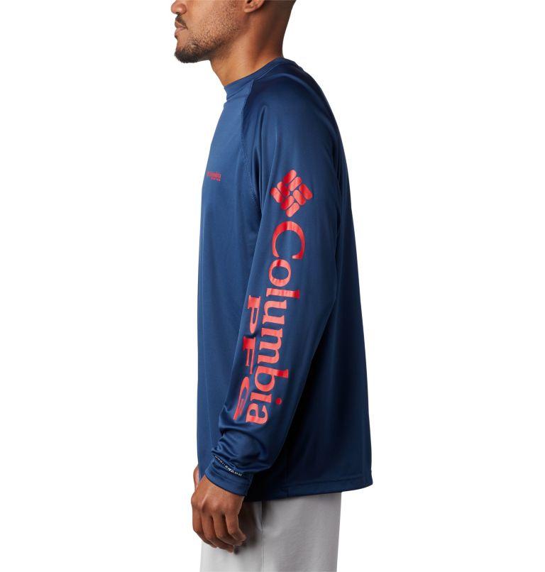 Terminal Tackle™ LS Shirt | 474 | XXL Men's PFG Terminal Tackle™ Long Sleeve Shirt, Carbon, Red Spark Logo, a1