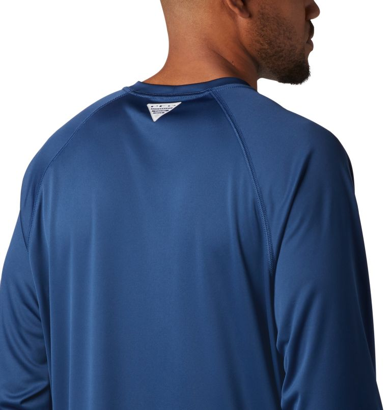 Terminal Tackle™ LS Shirt | 474 | XXL Men's PFG Terminal Tackle™ Long Sleeve Shirt, Carbon, Red Spark Logo, a3