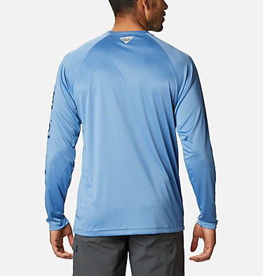 Men's PFG Terminal Tackle™ Long Sleeve Shirt Terminal Tackle™ LS Shirt | 472 | XS, Skyler, Carbon Logo, back