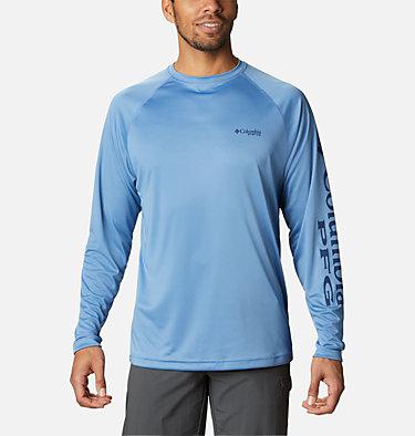 Men's PFG Terminal Tackle™ Long Sleeve Shirt Terminal Tackle™ LS Shirt | 480 | S, Skyler, Carbon Logo, front