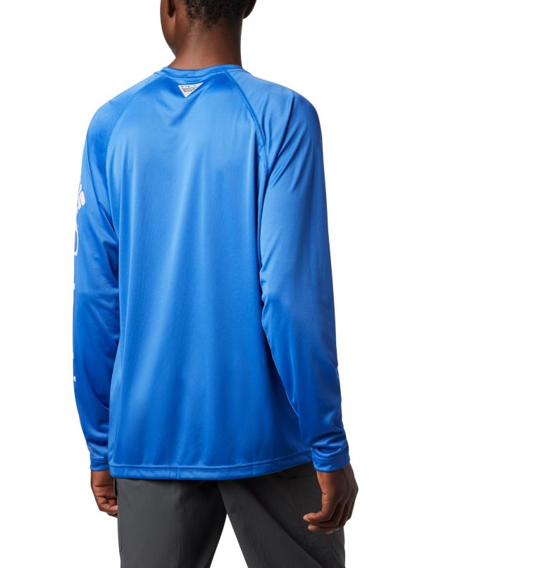 Terminal Tackle™ LS Shirt | 488 | S Men's PFG Terminal Tackle™ Long Sleeve Shirt, Vivid Blue, Cool Grey Logo, a3