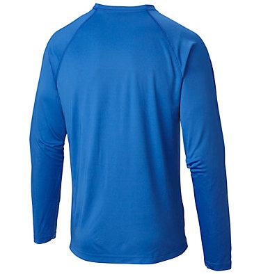 Men's PFG Terminal Tackle™ Long Sleeve Shirt Terminal Tackle™ LS Shirt | 472 | XS, Vivid Blue, Jupiter Logo, back