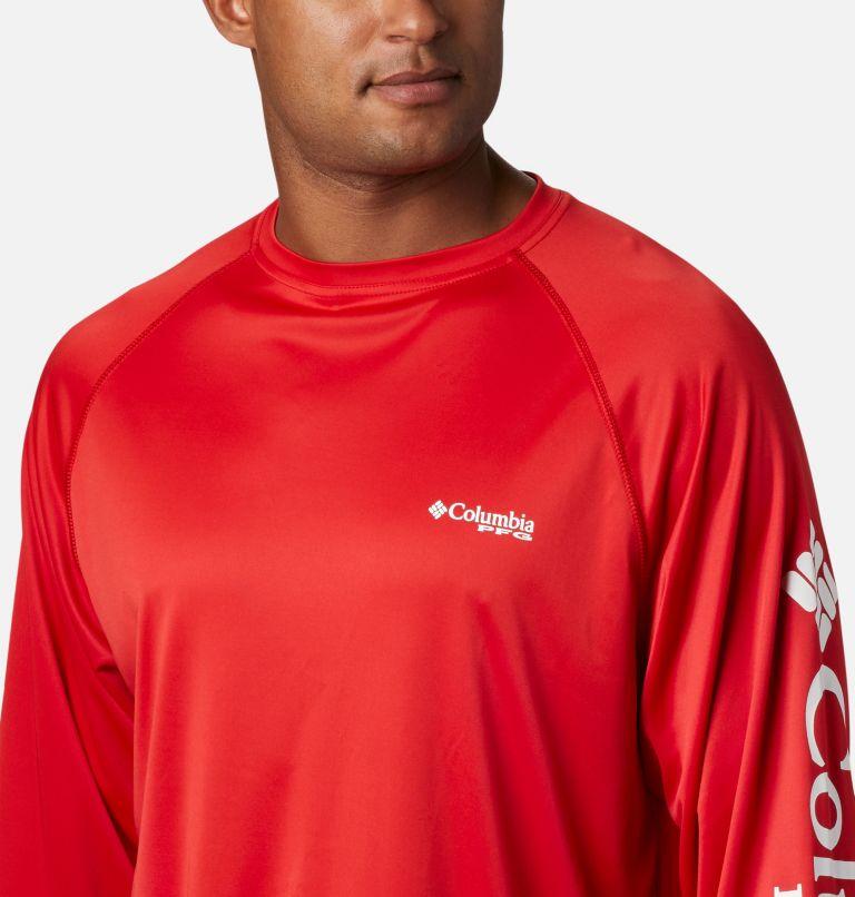 Terminal Tackle™ LS Shirt | 696 | XS Men's PFG Terminal Tackle™ Long Sleeve Shirt, Red Spark, White Logo, a2
