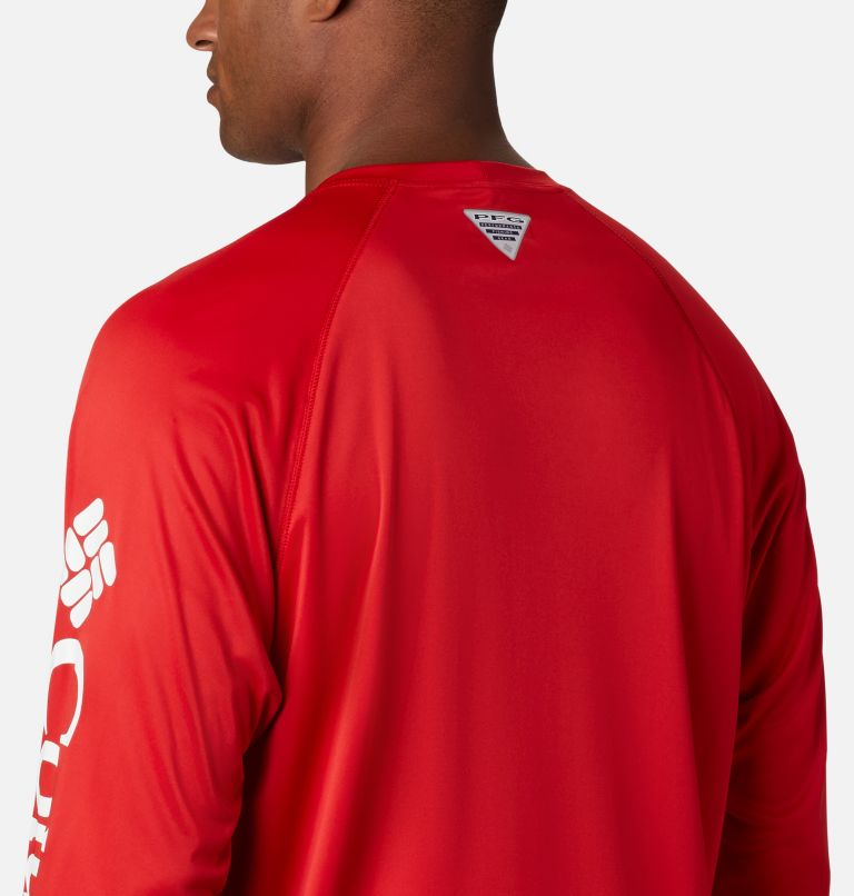 Terminal Tackle™ LS Shirt | 696 | S Men's PFG Terminal Tackle™ Long Sleeve Shirt, Red Spark, White Logo, a3