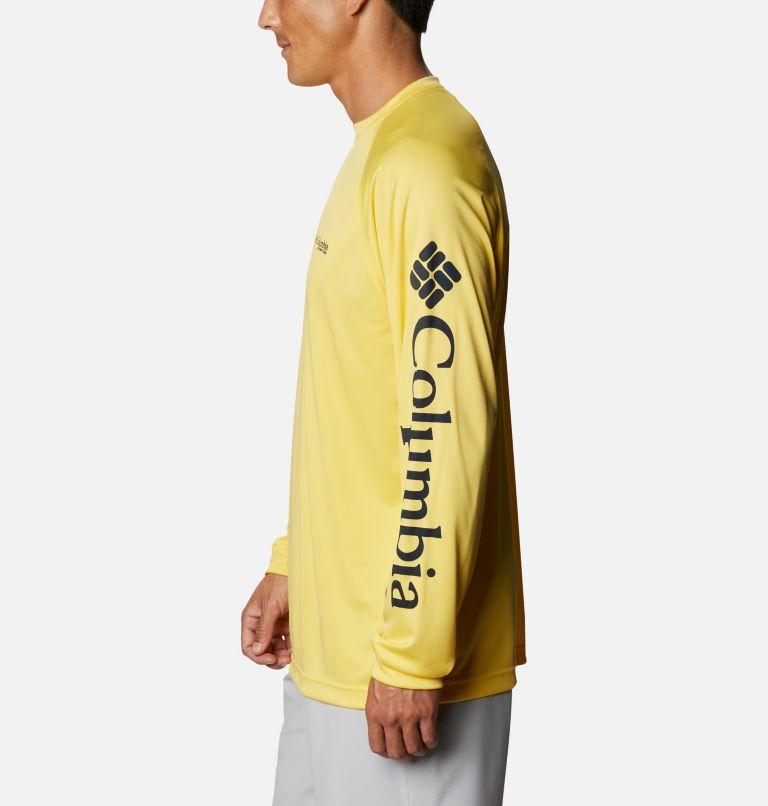 Terminal Tackle™ LS Shirt | 771 | XXL Men's PFG Terminal Tackle™ Long Sleeve Shirt, Sun Glow, Collegiate Navy Logo, a1