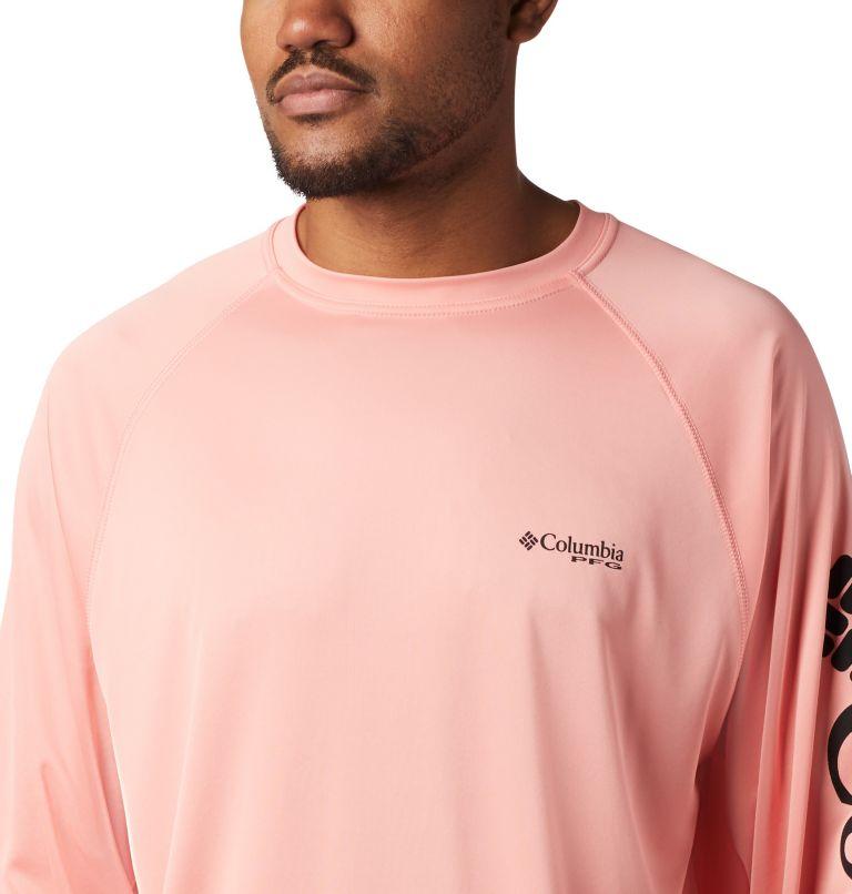 Terminal Tackle™ LS Shirt | 820 | M Men's PFG Terminal Tackle™ Long Sleeve Shirt, Sorbet, Black Logo, a2