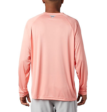 Men's PFG Terminal Tackle™ Long Sleeve Shirt Terminal Tackle™ LS Shirt | 472 | XS, Sorbet, Black Logo, back