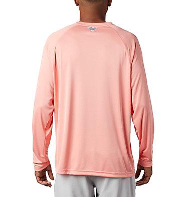 Men's PFG Terminal Tackle™ Long Sleeve Shirt Terminal Tackle™ LS Shirt | 480 | S, Sorbet, Black Logo, back