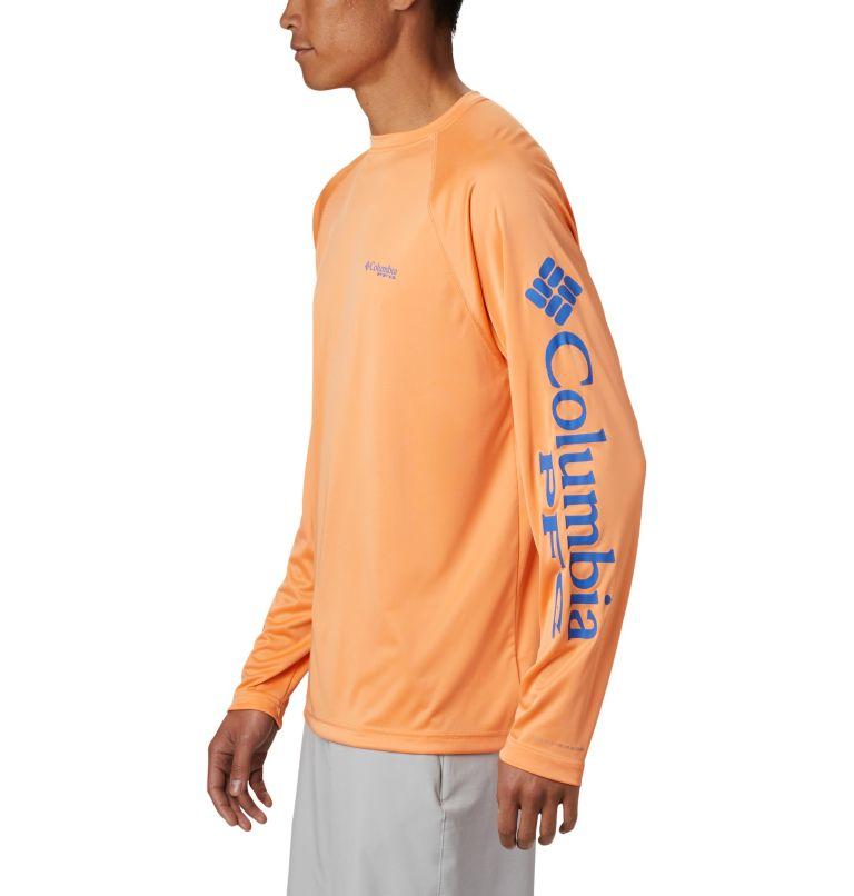 Terminal Tackle™ LS Shirt | 873 | L Men's PFG Terminal Tackle™ Long Sleeve Shirt, Bright Nectar, Vivid Blue Logo, a1
