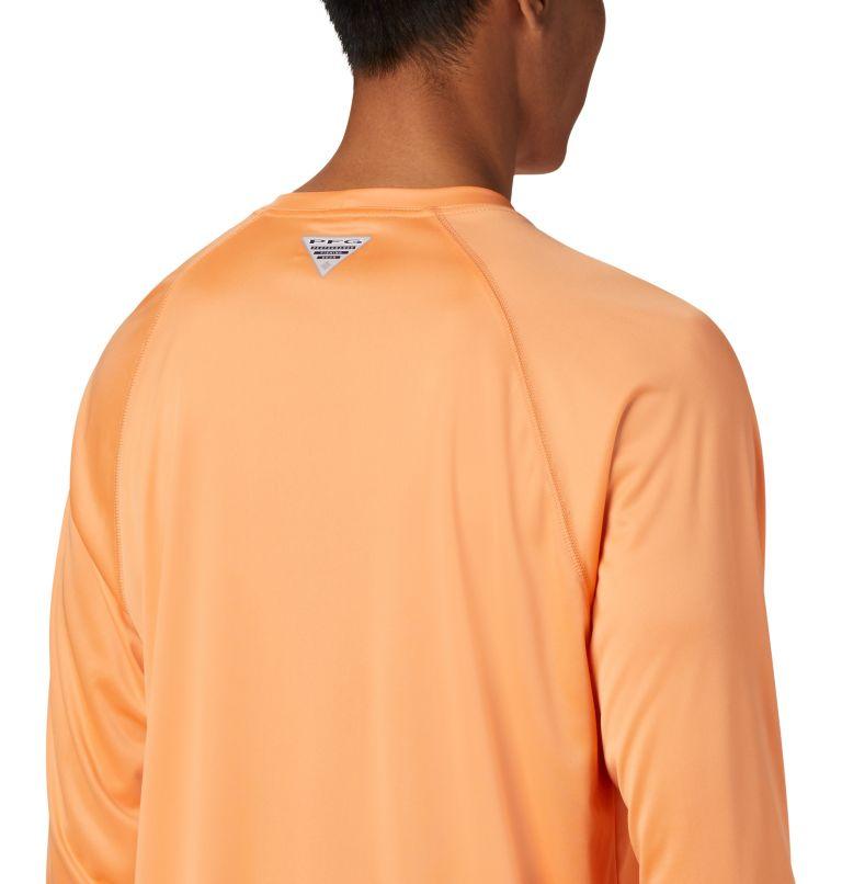Terminal Tackle™ LS Shirt   873   XS Men's PFG Terminal Tackle™ Long Sleeve Shirt, Bright Nectar, Vivid Blue Logo, a3