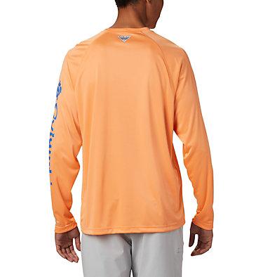 Men's PFG Terminal Tackle™ Long Sleeve Shirt Terminal Tackle™ LS Shirt | 480 | S, Bright Nectar, Vivid Blue Logo, back