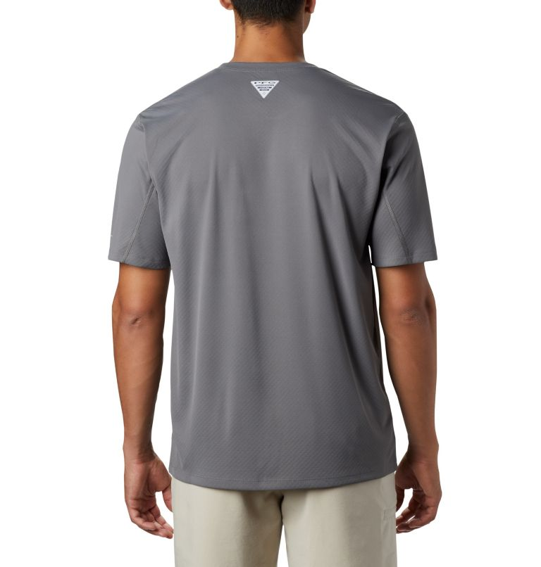 PFG ZERO Rules™ SS Shirt | 023 | XL Men's PFG Zero Rules™ Short Sleeve Shirt, City Grey, back