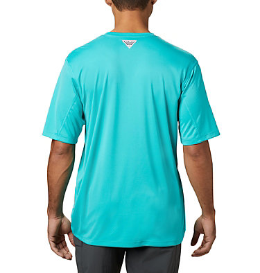 Men's PFG Zero Rules™ Short Sleeve Shirt PFG ZERO Rules™ SS Shirt | 469 | S, Bright Aqua, back