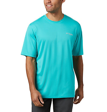 Men's PFG Zero Rules™ Short Sleeve Shirt PFG ZERO Rules™ SS Shirt | 469 | S, Bright Aqua, front