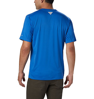 Men's PFG Zero Rules™ Short Sleeve Shirt PFG ZERO Rules™ SS Shirt | 469 | S, Vivid Blue, back